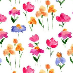 bold bloom - watercolor summer flowers p298