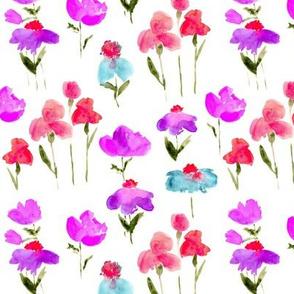 Bold bloom - watercolor summer flowers