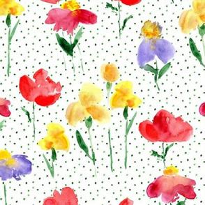 bold sicilian bloom - watercolor summer flowers 298