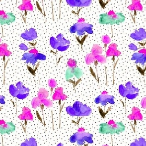 bold bloom in pink and purple - watercolor summer flowers p298