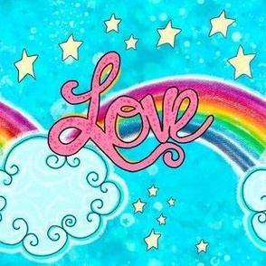 Faith Hope Love Rainbow