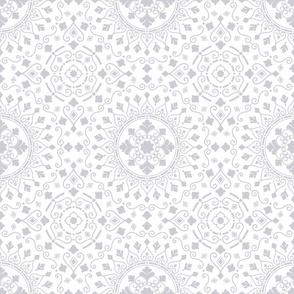 Geometric Mandala Grey