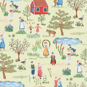 Swedish Folk Art Midsummer