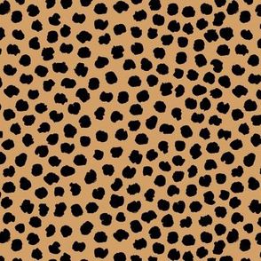 Rough & wild cheetah wild cat spots animal print nursery minimal trend cinnamon black