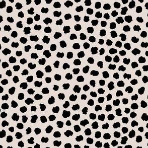 Rough & wild cheetah wild cat spots animal print nursery minimal trend pale black