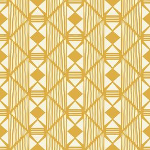 Tribal Mustard Mudcloth