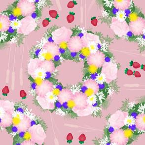 Midsummer wildflowers strawberries