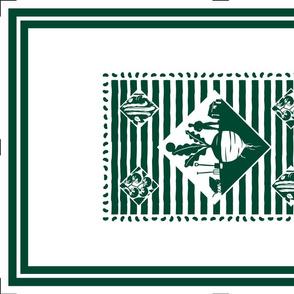 Allotmenteer Tea Towel - green
