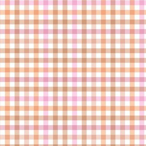 Buffalo plaid check romantic girls soft pastel beige nude
