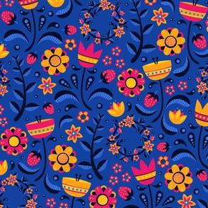 Midsummer Festival Floral (Blue)