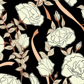 White Rose - Black - Large