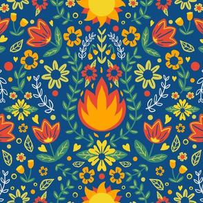 Scandinavian Midsummer Bonfire Floral