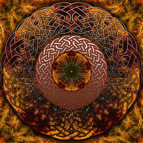Fall Celtic Knot Circle