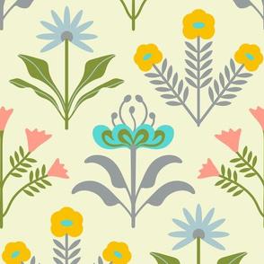 Lora Mid-Century Modern Floral - UnBlink Studio by Jackie Tahara