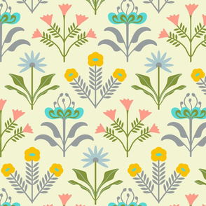 Lora Mod Floral in Light Pastel Colours - LARGE Scale - UnBlink Studio by Jackie Tahara