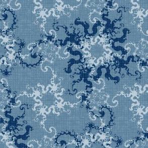 "Light-blue fractal, 10.5"""