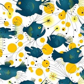 angler fish - yellow glow