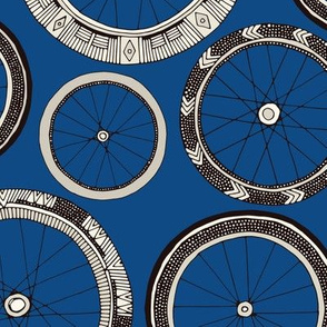 bike wheels bold blue