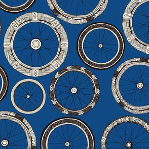 bike wheels bold blue small