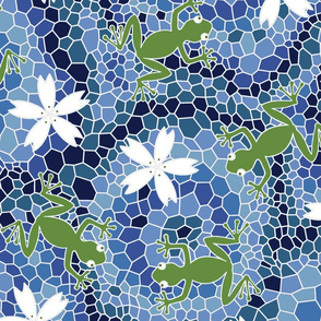 midsommer frogs flowers D cleaner lines spoonfloer zb 6300pixels offset i cyanA jjjjjjjjjjjjjjjJjJ eq whiteX