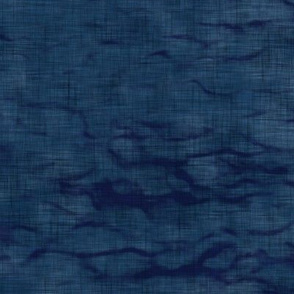 Shibori Linen in Dark Indigo | Arashi shibori linen pattern, coordinate fabric for the block printed stars and moons collection.