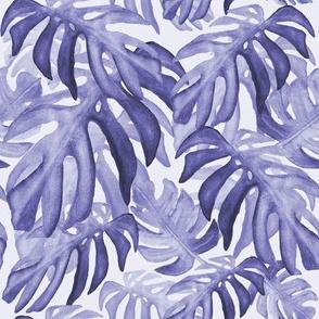 Tropical leaves lavender palette