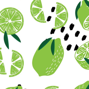 Fruit Lime Pattern 009