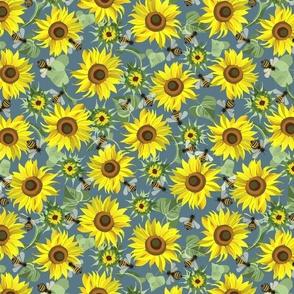 Summer sunflowers. Medium scale