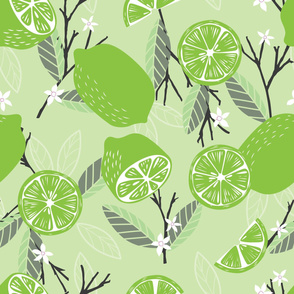 Fruit Lime Pattern 037