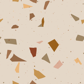 Terrazzo Coral beige. Large size