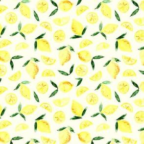Lemon in zest - small scale watercolor citrus p299