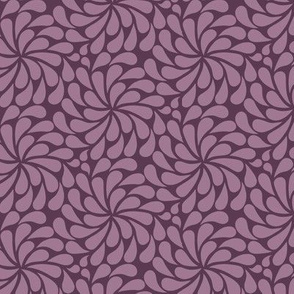 In a Spin - mini, dusty pink on plum
