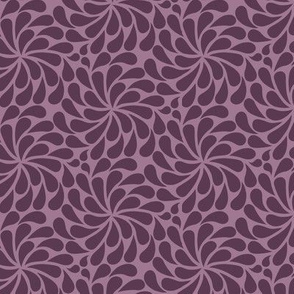In a Spin - mini, plum on dusty pink