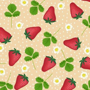 Midsummer strawberries - latte