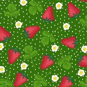 Midsummer strawberries - forest