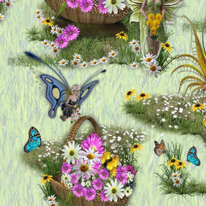 Spring flower gatherers