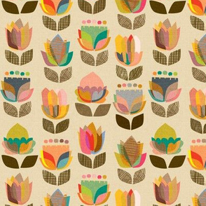 Mid-Century Flowers Directional {Kaleidoscope} -  small scale