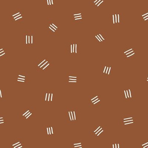 Abstract mudcloth print minimal boho nursery neutral Scandinavian rust copper
