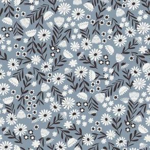 folk flower fabric - dainty feminine flowers - sfx4013