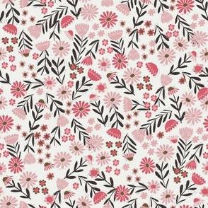 folk flower fabric - dainty feminine flowers - sfx1611, sfx1755
