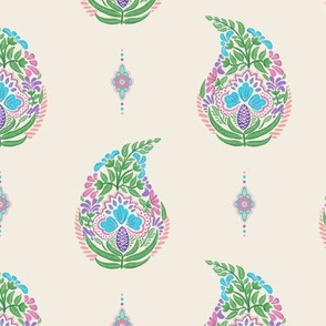 Multi Color Simple Paisley