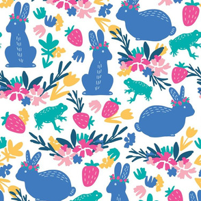 Midsummer Bunnies and Frogs