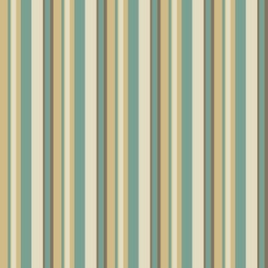 daisy stripes teal/ivory