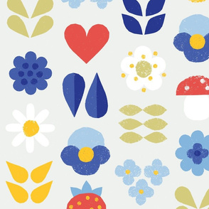 Papercut Scandinavian Midsummer Wildflowers M+M Petal by Friztin