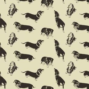 Daschunds Design - fabric copy