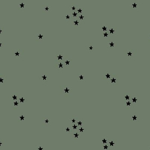 All in the stars spots of sparkle make a wish basic universe print neutral nursery camo army green