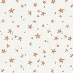 SMALL stars fabric - caramel - sfx1346 - star fabric, nursery fabric, baby fabric, simple fabric, minimal fabric, baby design