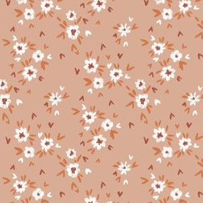 Valentines ditsy floral fabric - boho neutral aesthetic