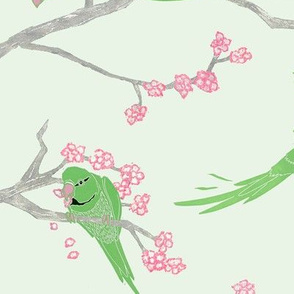 Parakeets_and_cherry_blossom