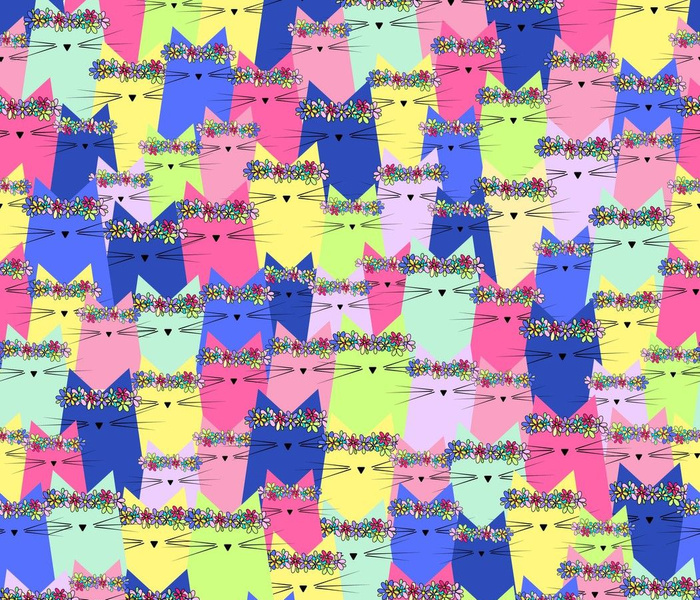 midsummer cats - cats fabric